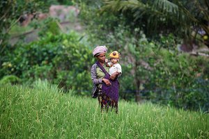 Balinese woman with child