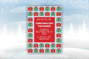 Christmas Gift Exchange Party Invite