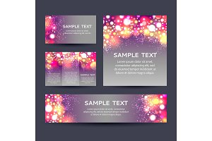 Set of bokeh backgrounds flyers