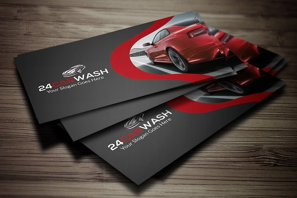 Car wash business card business card templates creative market colourmoves
