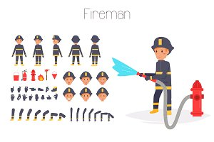 Fireman for animation