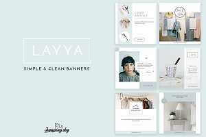 LAYYA simple & clean banners