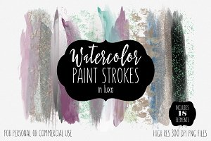 Watercolor Paint Strokes in Luxe