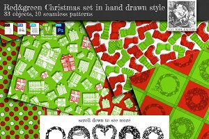 Red&green Christmas set
