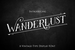 Wanderlust:Vintage Display Font