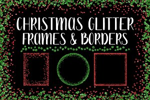Christmas Glitter Frames and Borders