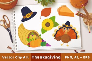 Thanksgiving Clipart, Turkey Clipart