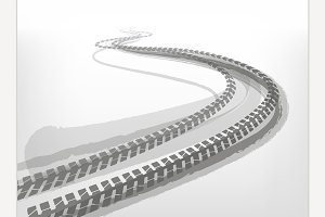 Automotive Tire Tracks