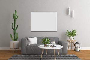 Interior mockup - art background