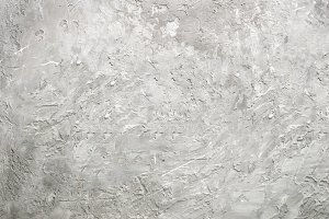 Grey abstract cement concrete background. Grunge texture, wallpaper. Blackboard. Top view, copy space. Banner