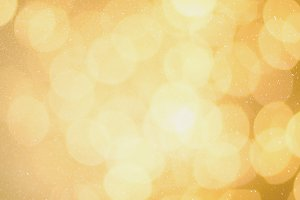 Festive glittering christmas lights. Blurred abstract background with bokeh. Copy space. Banner