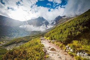 Tourist trail in High Tatra mountains, Slovakia