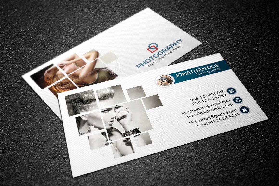 Photography business card business card templates creative market reheart Images