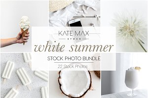 White Summer Stock Photo Bundle