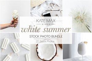 White Summer Stock Photo Bundle