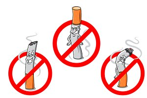 No smoking cartoon sign