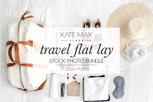 Travel Flatlay Stock Photo Bundle