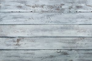 White scratched wooden texture, background with copy space. Banner