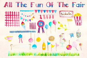 Fun of the Fair Watercolor Bundle