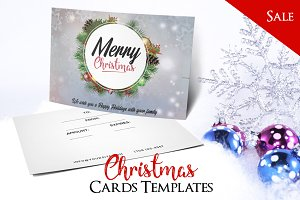 Merry Christmas - PSD Postcard Vol1