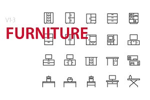 60  Furniture UI icons