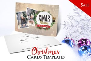 Merry Christmas - PSD Postcard Vol3