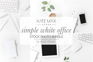 White Office Stock Photo Bundle