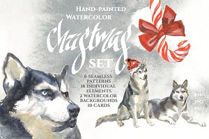 Chistmas Watercolor Set