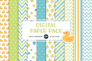 Boy Baby Shower Digital Papers