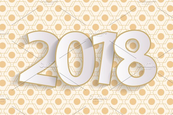 happy new year 2018 greeting card cards
