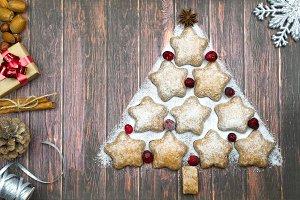 Holiday cookies - Christmas tree