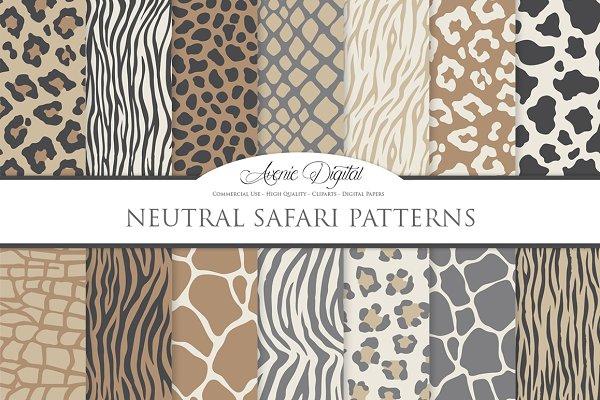 Neutral Safari Digital Paper