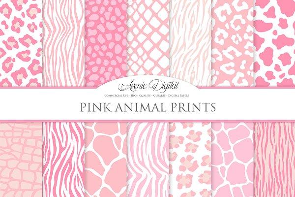 Pink Animal Print Digital Paper