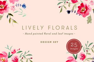 Lively Florals - Watercolor Set