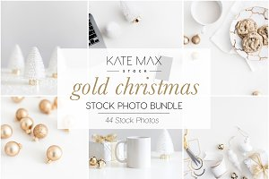 Gold Christmas Stock Photo Bundle