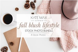 Blush Fall Lifestyle Stock Photos