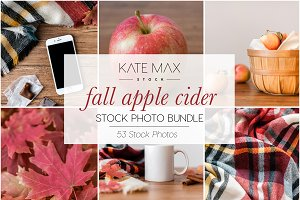 Fall Apple Cider Stock Photo Bundle