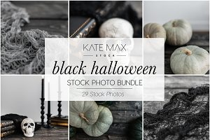 Black Halloween Stock Photo Bundle
