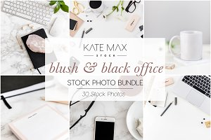 Blush+Black Office Stock Photo Bundl