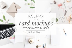 Card Mockup Stock Photo Bundle