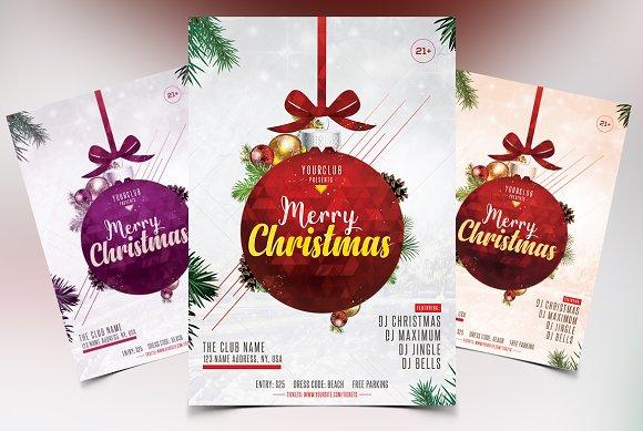 Merry Christmas 2018 - PSD Flyer ~ Flyer Templates ~ Creative Market