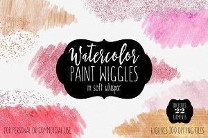 Soft Watercolor Paint Texture Shapes