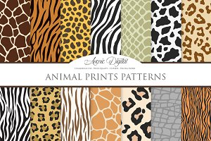 Animal Print Vector Patterns - Paper