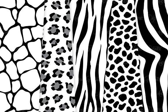Black And White Cheetah Print Drawing