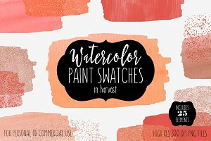 Harvest Watercolor Paint Swatches