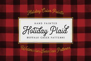 Holiday Hand Painted Buffalo Check