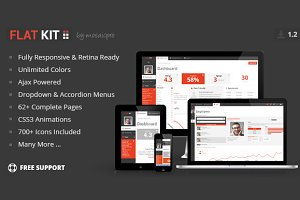 FLAT KIT - Premium Web App Template