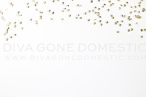 Stock Photo - Gold Diamond Confetti
