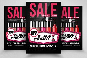 Black Friday Sale Discount Flyers