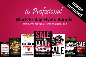 10 Black Friday Sale Flyer Bundle
